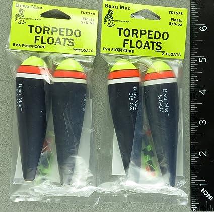 Dos paquetes Torpedo EVA espuma flotadores 5/8 oz por