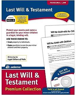 Amazon last will testament forms usa do it yourself adams last will and testament forms and instructions includes cd lf235 solutioingenieria Images