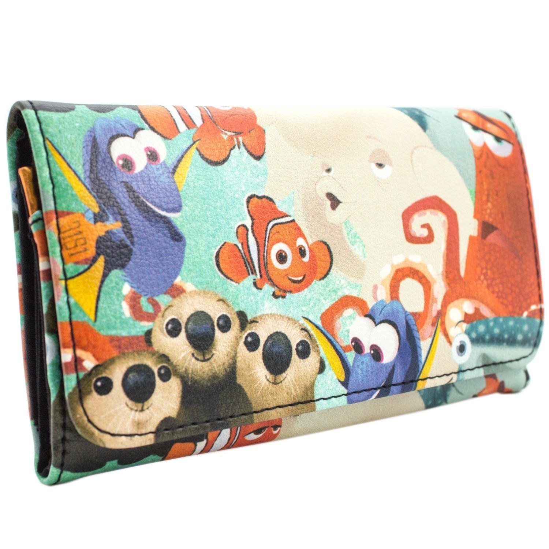 Disney Finding Dory Nemo & Marlin Blue Coin & Card Tri-Fold Purse 28777