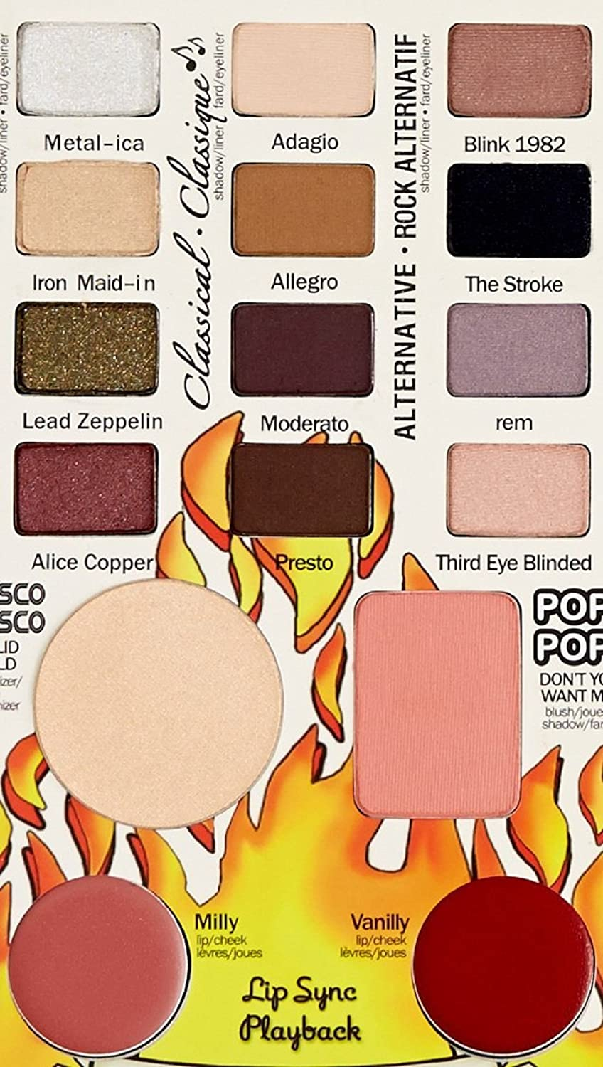 ADS Tony Stark Balm Jovi Rockstar Face Palette Includes 12 Eyeshadow, 1 Blusher, 1 Compact, 2 Lipstick