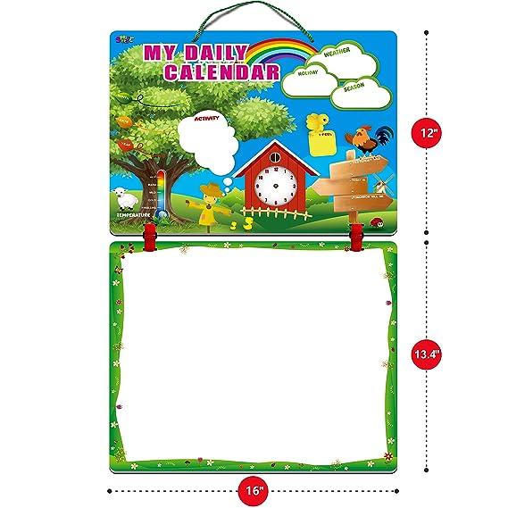 Amazon.com: Calendario diario para niños con