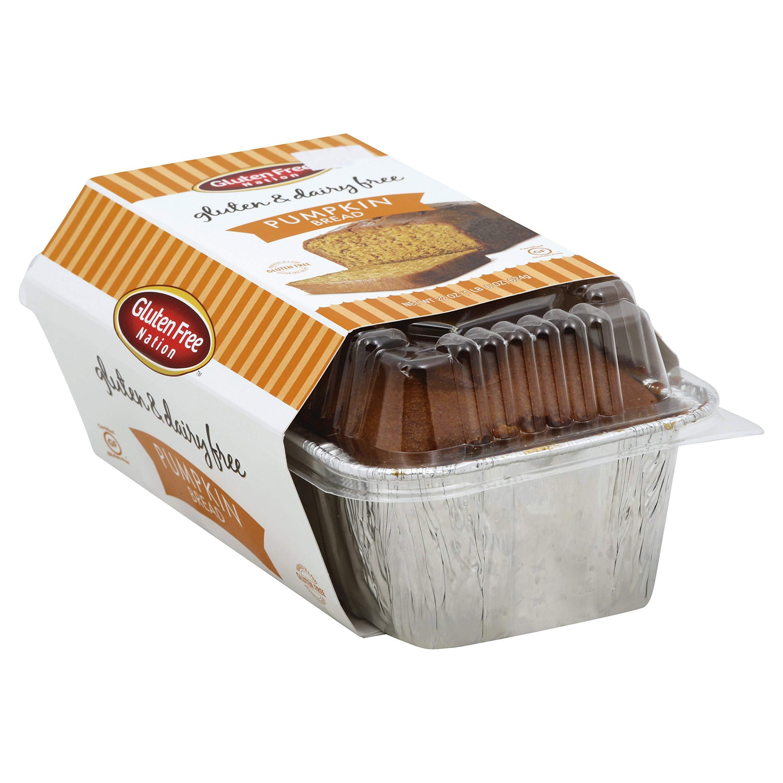 Gluten Free Dairy Free Pumpkin Bread 22 oz. (case of six 22 oz. loaves) by Gluten Free Nation