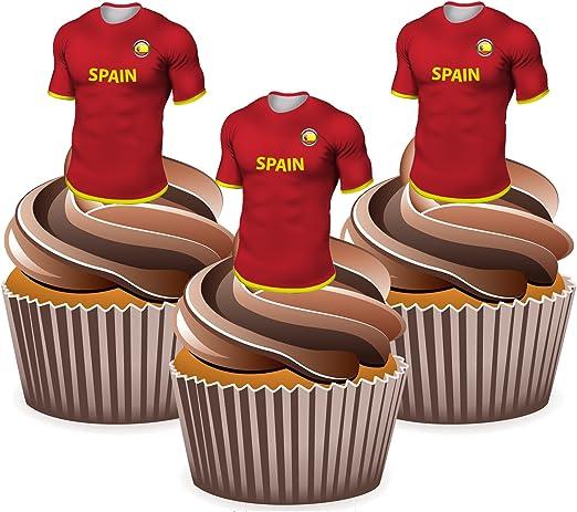 Euro 2016 España Camiseta de fútbol – Comestible stand-up Cup Cake ...