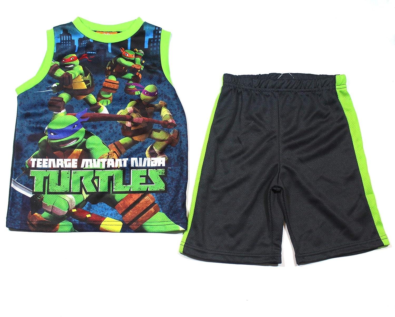 Teenage Mutant Ninja Turtles Toddler Boys Tank Top /& Short Set Size 2T Green