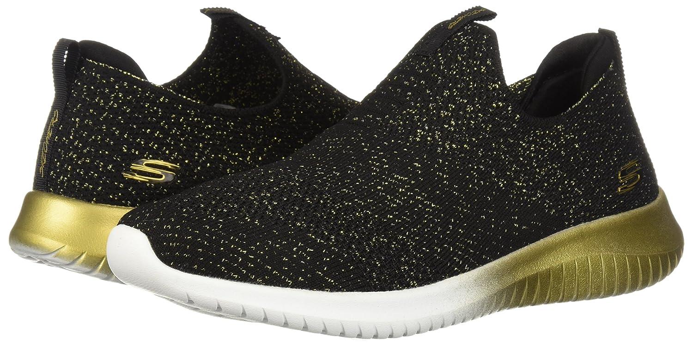 Skechers Women's Ultra Flex-Metamorphic Sneaker B076Q47972 6.5 B(M) US Black/Gold