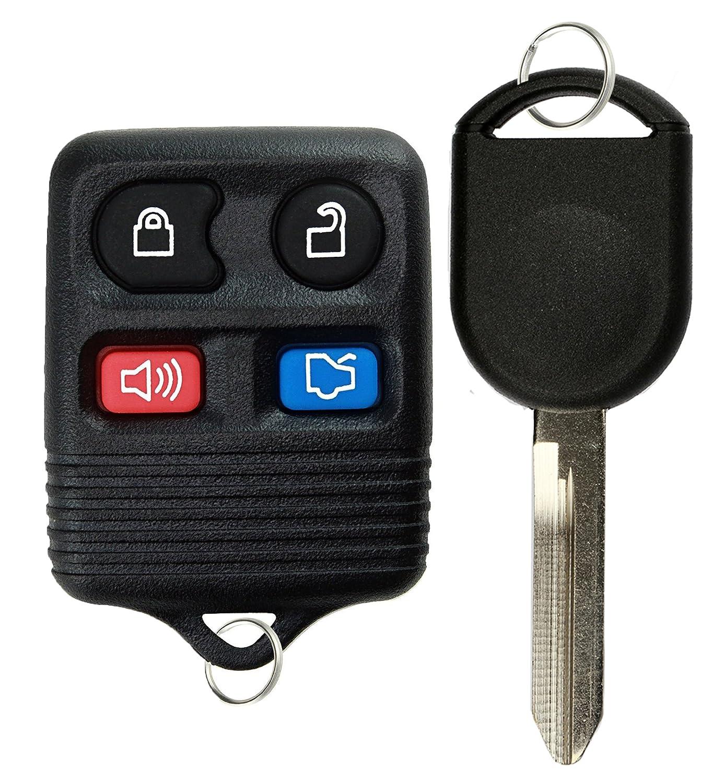 KeylessOption Keyless Entry Remote Control Fob Uncut Blank Car Ignition Key For CWTWB1U345 GQ43VT11T H92