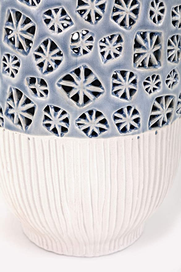 Imax 25706 Lynne Medium Cutwork Vases Green