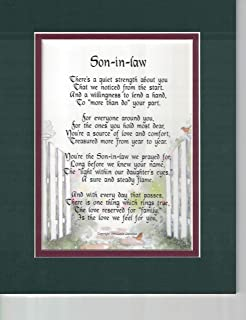 A Gift For Son In Law Poem 90 Unique 30th
