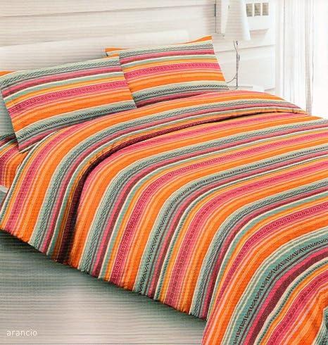 megawebstore - Juego de sábanas 100% algodón, para Cama de 1 Plaza y Media, México: Amazon.es: Hogar