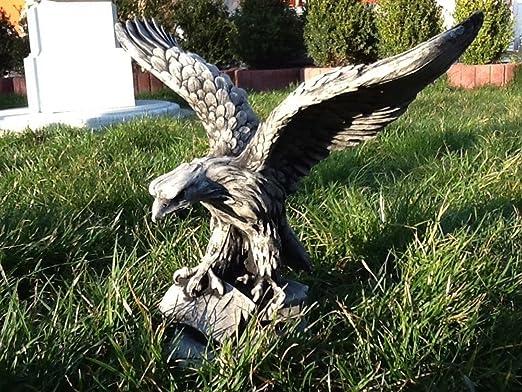 SSITG Jardín Figura águila Figura Estatua de piedra Altura 33 cm de piedra Pájaros de hormigón: Amazon.es: Jardín