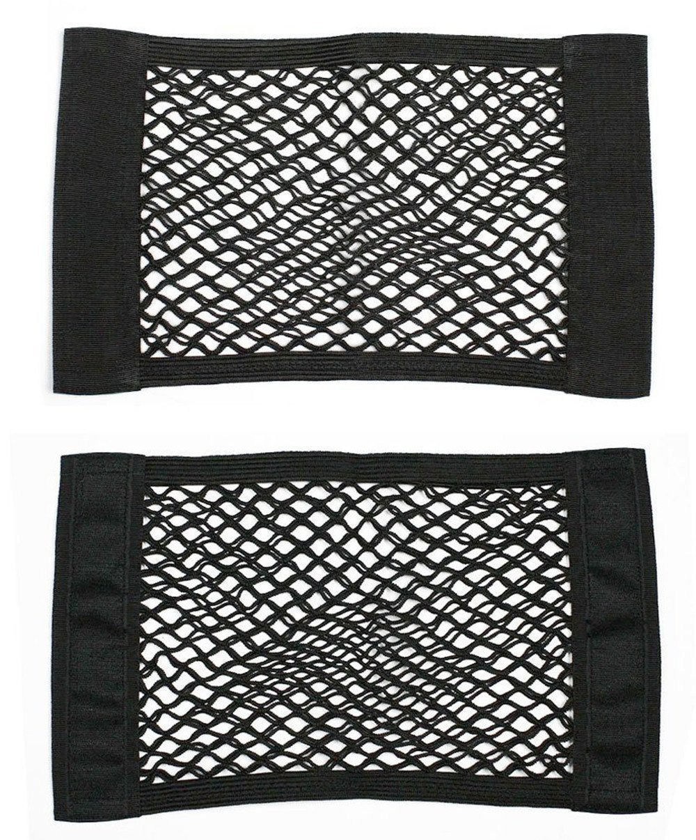 Wommty Car Trunk Storage Net, Black Magic Adhesive Storage Net Elastic String Net Mesh Storage Pocket for Bottles, Groceries, Storage Add On Organizers, 2 Pack (Style 2) Wommty EU