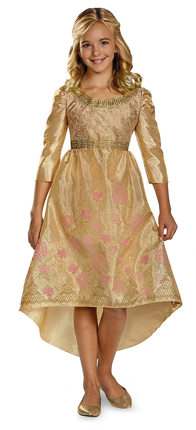 Aurora coronation dress gold color maleficent girl