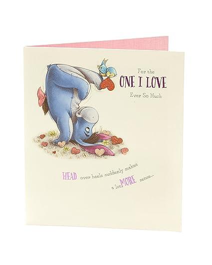 Amazon Disney Winnie The Pooh Eeyore One I Love Birthday Card