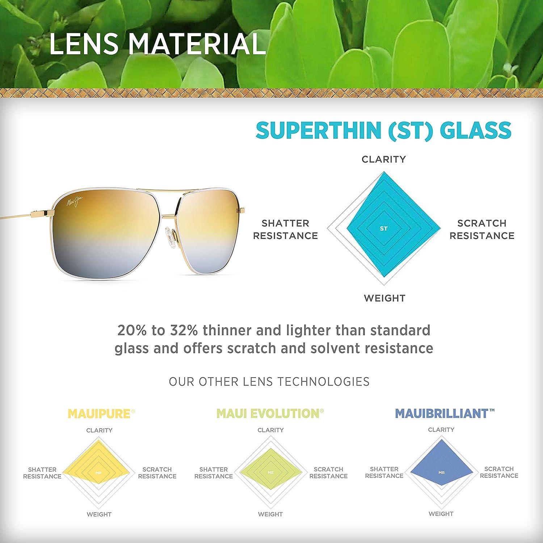 Maui Jim Men,Women 778 Kami 62 Sunglasses 62mm Dual Mirror Lenses with Patented PolarizedPlus2 Lens Technology DSB778-02D Silver to Black Over Neutral Grey