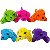 Plush Neon Dogs (1 Dozen): Bulk Set of Mini Puppy Stuffed Animals - Extra Soft Design In Assorted Colors - Specially Designed To Prevent Rips & Tears - M & M Products Online