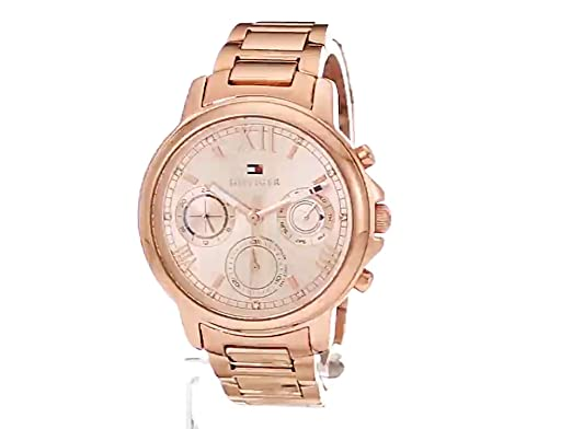 Amazon.com: Tommy Hilfiger Womens CLAUDIA Quartz Stainless Steel Casual Watch, Color:Rose Gold-Toned (Model: 1781743): Watches