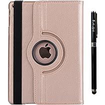 inShang Funda Compatible con iPad 2018 2017 iPad Air Air 2 Case Soporte y Carcasa Estuche, 360 Grados de rotacion, Smart Cover con Inteligente de sueno-Despertar Pluma: Amazon.es: Electrónica