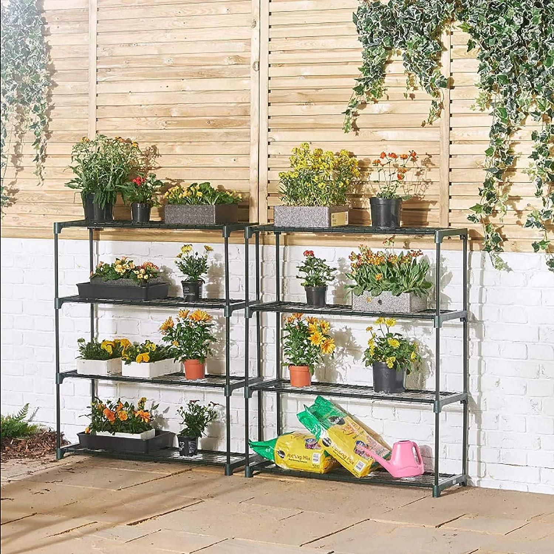 MIFIRE Invernadero portátil de 4 Niveles, Mini estantes para invernaderos Estantes de jardín Jardinera Escalera Estante De Exhibición: Amazon.es: Jardín