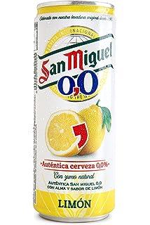 San Miguel 0,0 Limón - Cerveza sin Alcohol con Zumo de Limon- 330