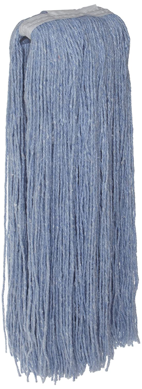 Zephyr 24011 Blendup Blue Blended Natural and Synthetic Fibers 12oz Cut End Wet Mop Head Zephyr Manufacturing Pack of 12