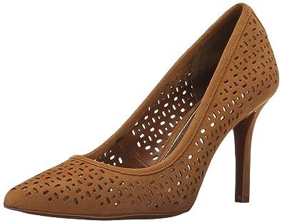 Ralph Lauren 'Sarina' perforated nappa black heels - size 9