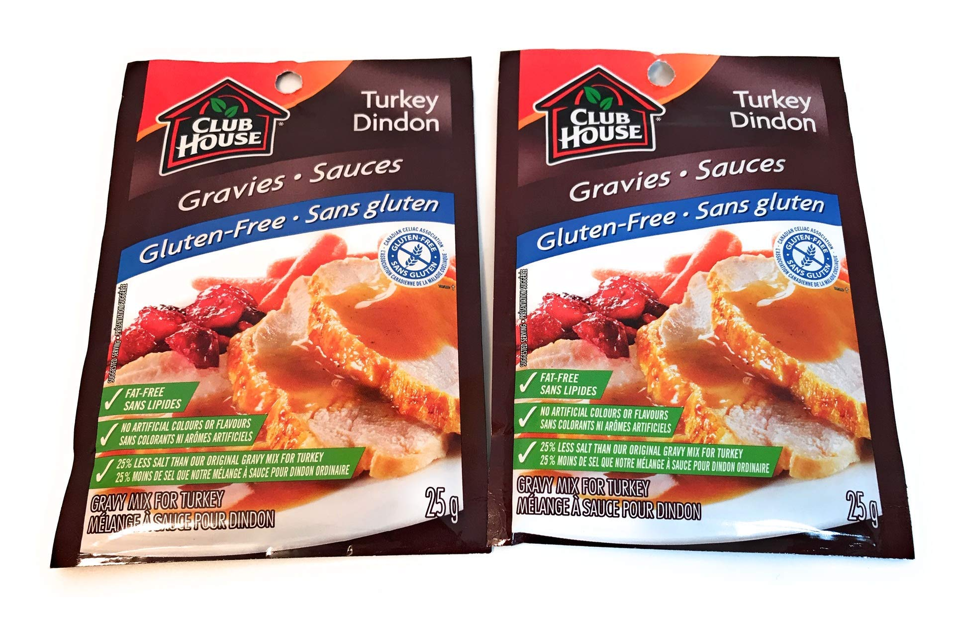 Club House, 2ct Gluten Free Turkey Gravy, 25g per Pack, (Imported from Canada) by Club House