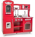 Leomark Big Red Grande Cocina Madera Infantil De Juguete - Color Rojo - Accesorios, para Niños, Cocinita con teléfono…