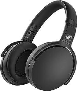 Sennheiser HD 350BT Bluetooth 5.0 Wireless Headphone - 30-Hour Battery Life, USB-C Fast Charging, Virtual Assistant Button, Foldable - Black