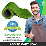 SavvyGrow Artificial Grass for Dogs AstroTurf-Rug - Premium 4 Tone Synthetic Astro Turf, Easy to Clean with Drain Holes - Fake Turfs for Patios - Non Toxic