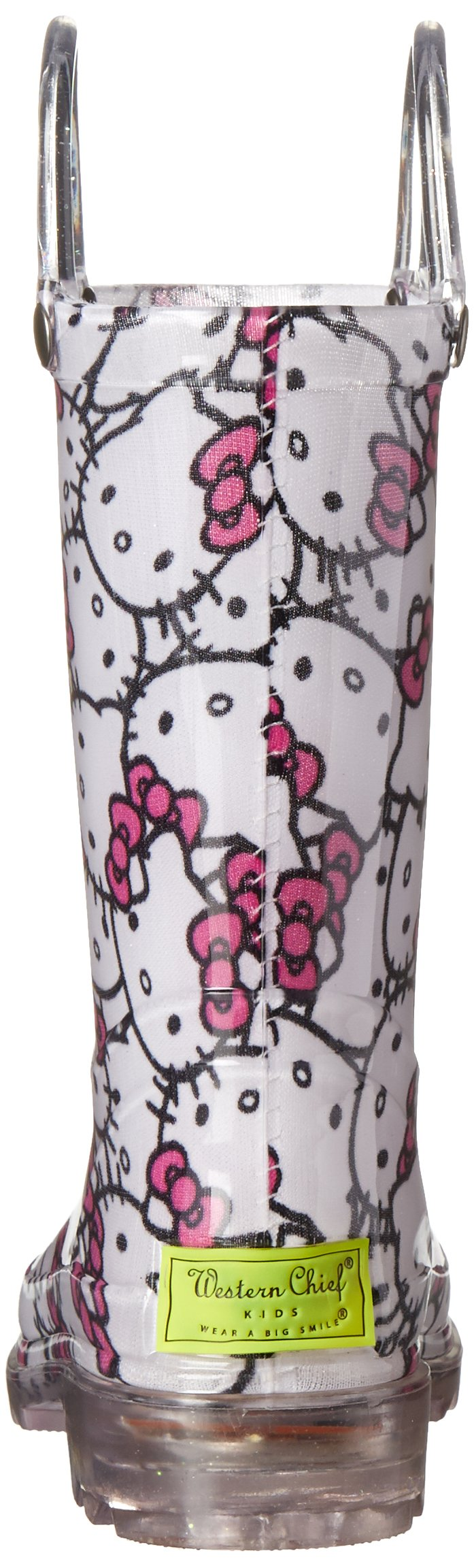 Western Chief Girls' Hello Kitty Waterproof Character Rain Boots with Easy on Handles, Light-up Hello Kitty, 12 M US Little Kid by Western Chief (Image #2)