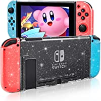 DLseego Dockable Crystal Case Compatible with Nintendo Switch, Glitter Bling Cover with Shock-Absorption and Anti…