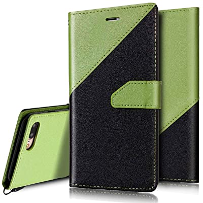 Coque Etui pour iPhone 7 Plus 8 Plus, iPhone 8 Plus Coque Portefeuille PU 55a7fcc42a89