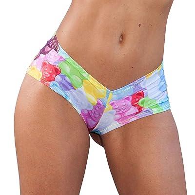 Sassy Assy Candy Bears Print Cheeky Booty Shorts Rave Wear