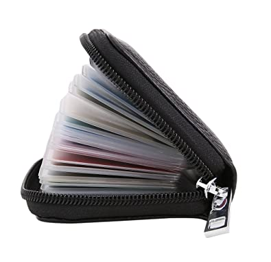 778dd6c0d334 Genuine Leather Credit Card Holder ID Business Card Case Purse Wallet for  Men   Women (
