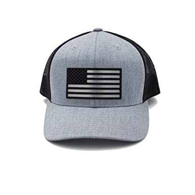 Image Unavailable. Image not available for. Color  Cotton Mule Black American  Flag Trucker Hat dfe53568732