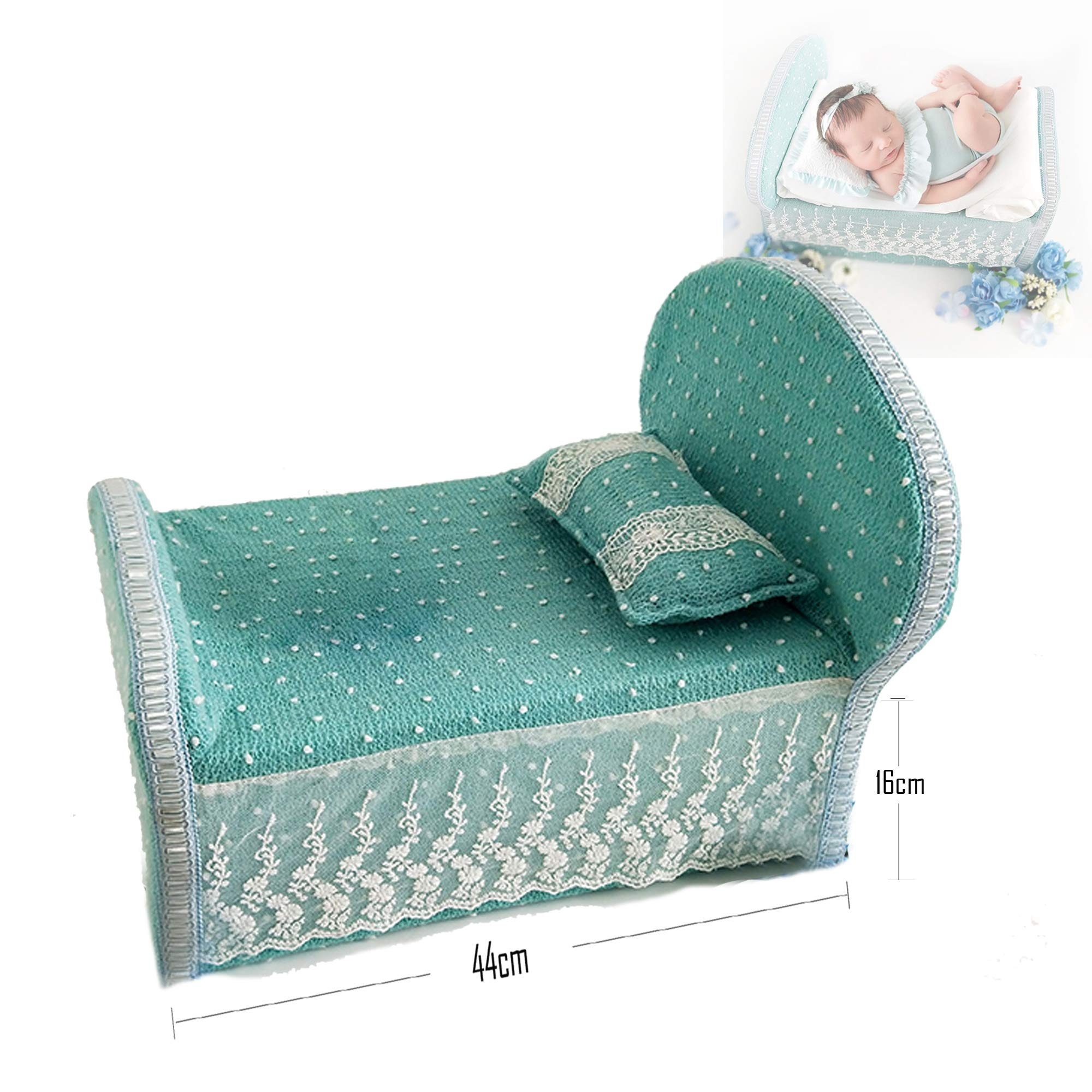 Newborn Foam Bed Photography Props 0-6 Months Professional Posing Aid 17''6.3'' (Blatic)