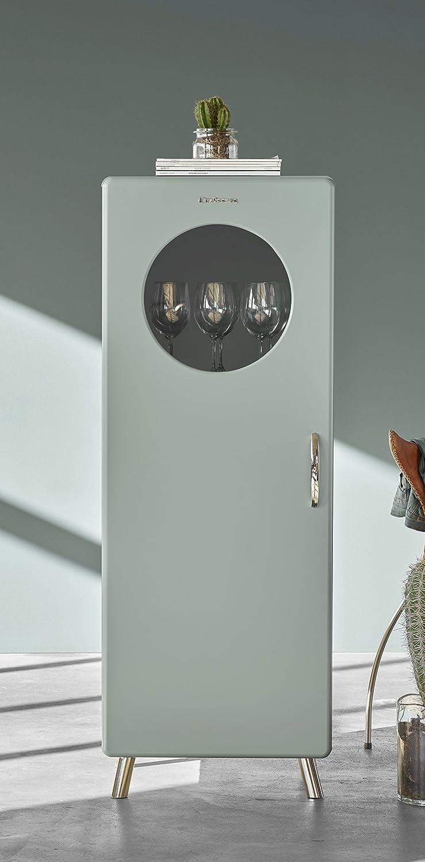 43 x 56 x 149 cm Tenzo 4901-076 Cobra Designer Halbvitrine Holz pastellgr/ün
