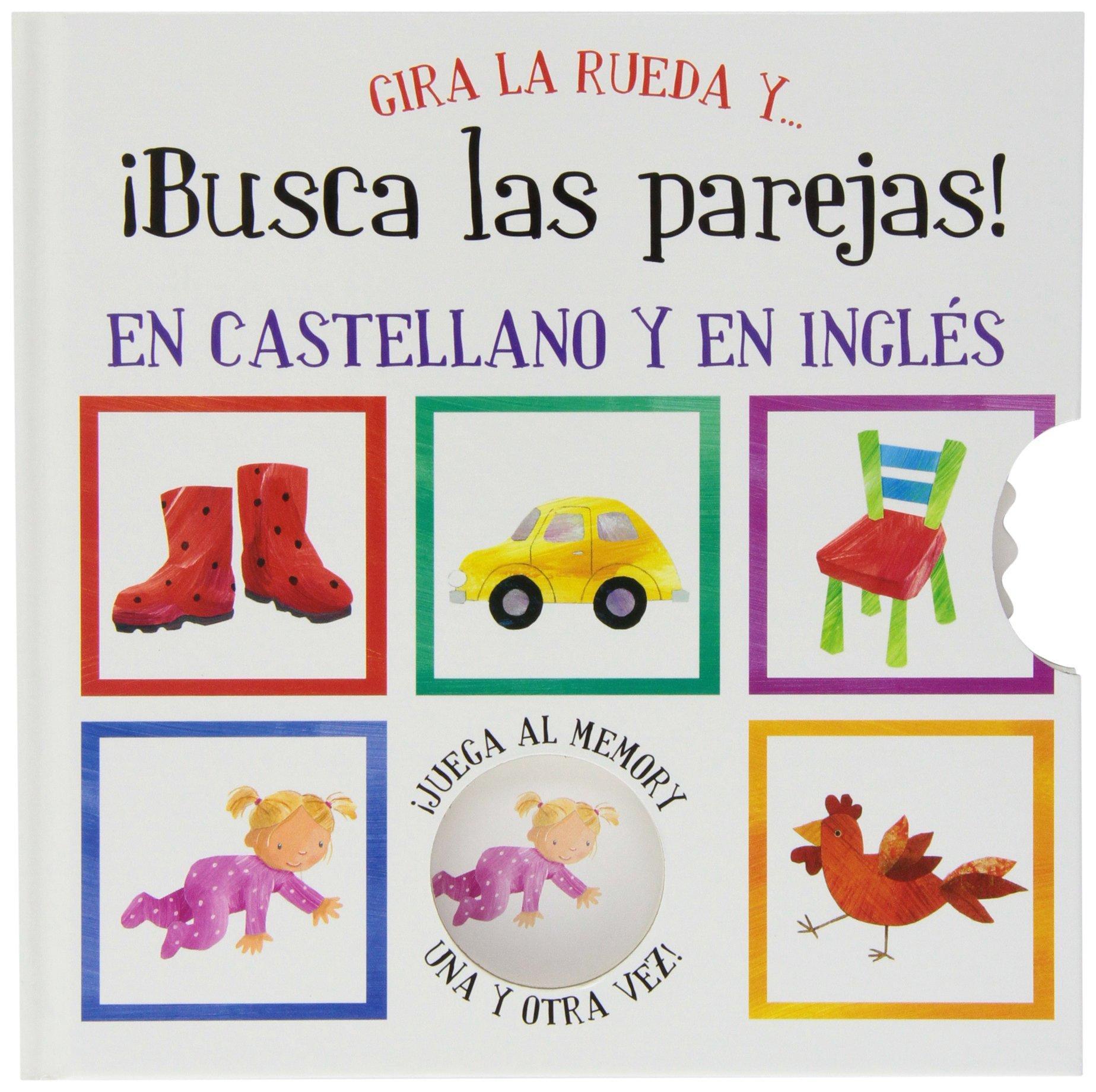 Gira la rueda y... ¡busca las parejas! / Mix and Match (Spanish and English Edition) Hardcover – October 30, 2013