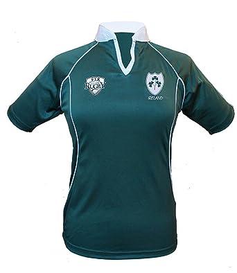 cffabbe5b Ireland Ladies Rugby Shirt Slim FIT Dark Green: Amazon.co.uk: Clothing