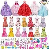 117pz Accessori per Doll Scarpe Bambole Abbigliamento e Essenziale oggetto domestico Accessori gioielli Mini Carina Gonna per Bambole Doll Come della Ragazza Compleanno Regalo
