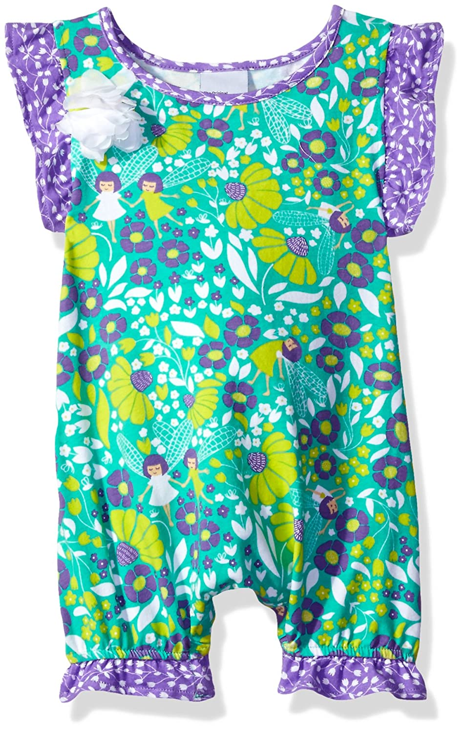 Flap Happy Baby-Girls Baby Seraphina Fluter Sleeve Romper with Snap Crotch FSB7AZ