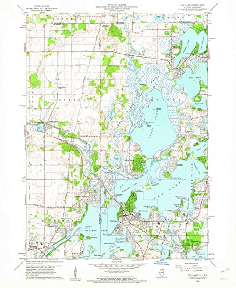 Fox Lake Map Amazon.: YellowMaps Fox Lake IL topo map, 1:24000 Scale, 7.5 X