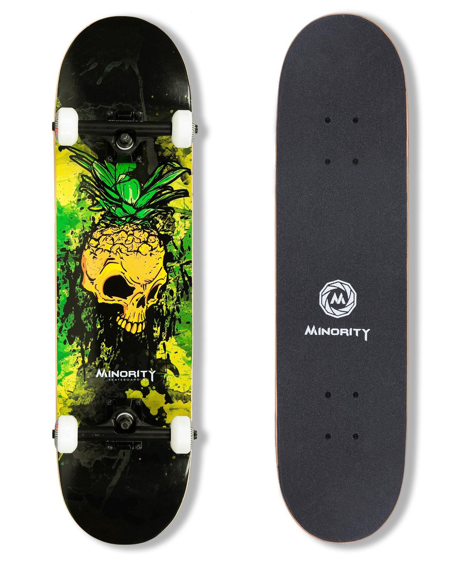 MINORITY 32inch Maple Skateboard (Pineskull) by MINORITY