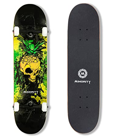 MINORITY 32inch Maple Skateboard (Pineskull)