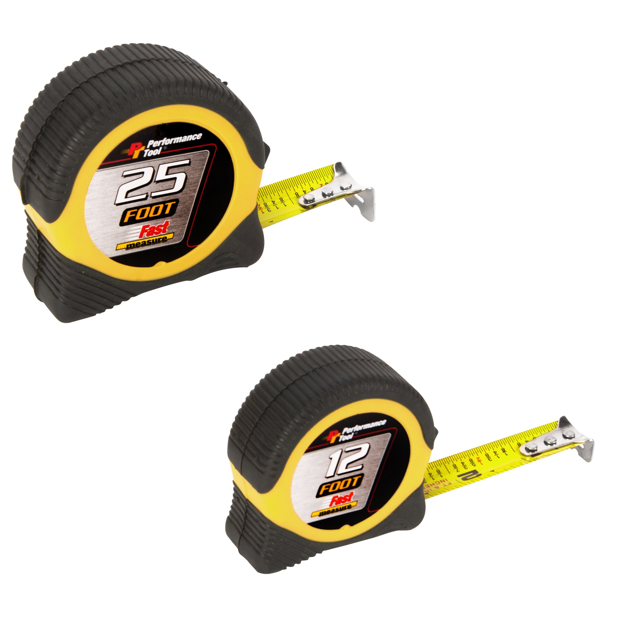 Performance Tool W5025BP 25-foot and 12-foot Tape Measure Combo