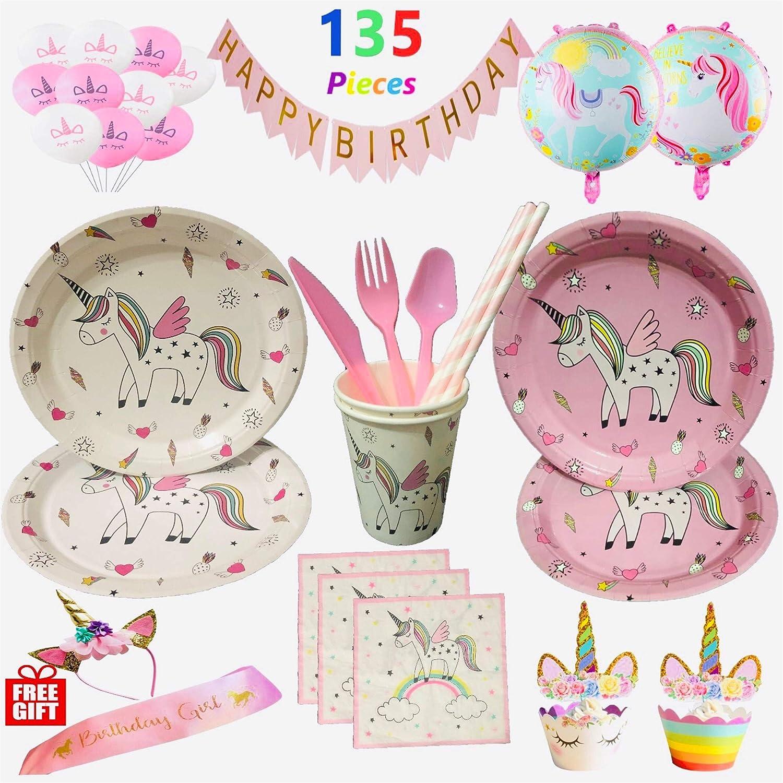 Unicorn Party Bundles for 12 Guests