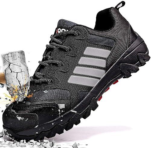 super popular c7906 2612e ASHION Stahlkappe Sicherheitsschuhe Herren, Industrie Handwerk Schuhe  Atmungsaktiv Leichte Reflektierende Arbeitsschuhe