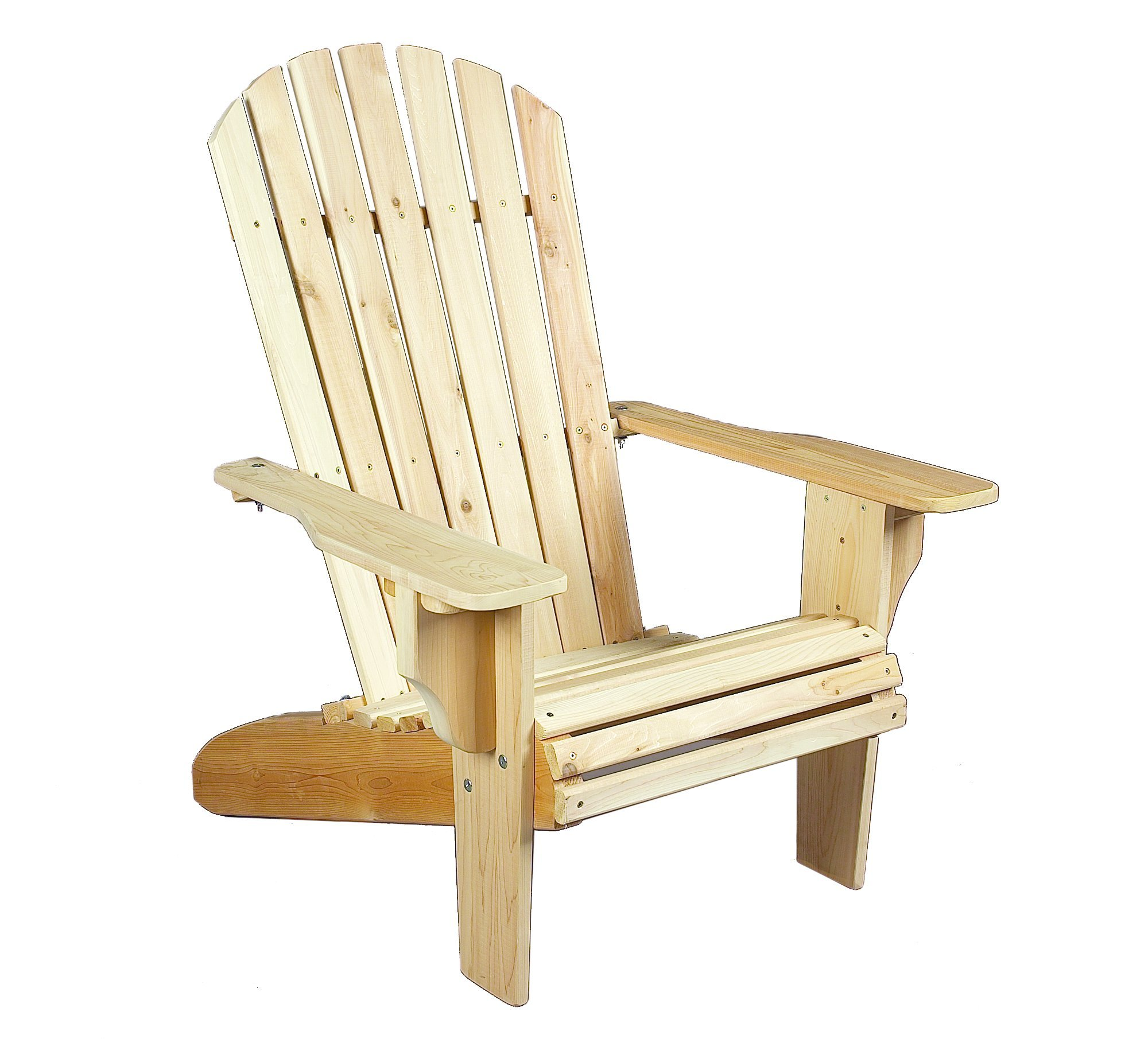 Cedarlooks 040404A Deluxe Adirondack Chair - Deluxe adirondack chair Solid cedar construction ensures years of maintenance free use. Can be painted, stained or left to wether to a natural silver grey. - patio-furniture, patio-chairs, patio - 81gHmJ53VqL -