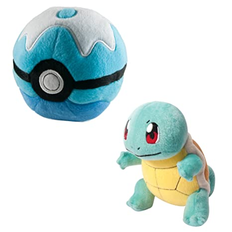 TOMY Pokemon Plush Figure Squirtle with Poke Ball 15 cm Peluches