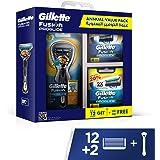 Gillette Gillette Fusion5 ProGlide Annual Value Pack: 1 Fusion ProGlide Razor Handle, 12 + 2 Fusion ProGlide Razor Blades